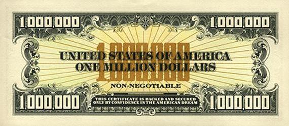 Купюра 1000000 долларов США – банкнота 1000000 миллион долларов ...